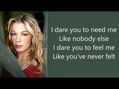 I Dare You - LeAnn Rimes - YouTube Piano Music, Music Songs, My Music, Music Videos, Pretty Songs, Love Songs, Love Chants, Musica Country, Quotes Deep Feelings