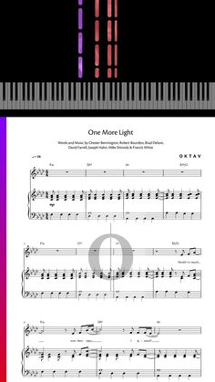 Learn how to play One More Light by Linkin Park with OKTAV. Get the sheet music on www.oktav.com and start playing :) #piano #pianocover #sheet #music #pianosheetmusic