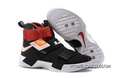 ea4f868e687c  Bred  Nike LeBron Soldier 10 Black White-Red Lastest