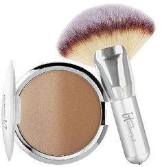 IT Cosmetics CC Anti-Aging Ombre Radiance Bronzer w/ Luxe Mega Fan Brush