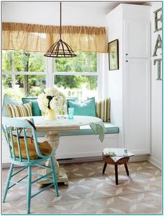 table in front of window seat | Affordable Built in kitchen window seats. Latest Kitchen window seat ...