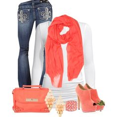 """Cute In Coral"" by cindycook10 on Polyvore"