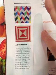 In Martha's magazine awhile back.