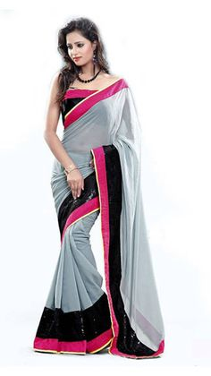 Sareeka Sarees Grey Faux Georgette Saree Enhance your elegance and bring spark wherever you go with this beautiful grey saree. Crafted from faux georgette, this ethnic creation will strike a balance between grace and comfort. Brand - Sareeka Sarees https://play.google.com/store/apps/details?id=com.womensdeals.womensdeals