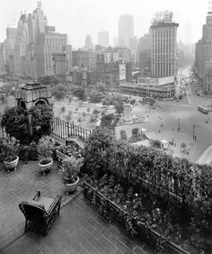 Photographer Unknown - Columbus Circle As Seen From The Mayflower Apartment Hotel, NYC, 1930.