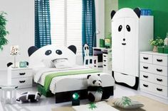 panda room decor.....I am an adult but...I WANT this room!!!! :)