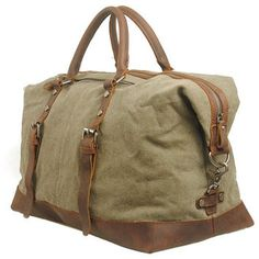 Mens Men Retro handmade canvas leather overnight duffel weekend tote bag  travel luggage Travel Bags e1a6f3a554652