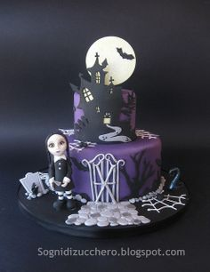 castle and moon birthday cake