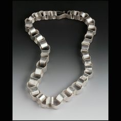 sterling silver paper chain necklace by Lisa Colby