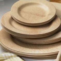 Bamboo Veneerware Plates