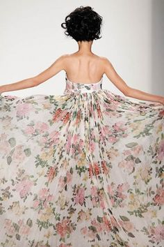 gauzy floral print