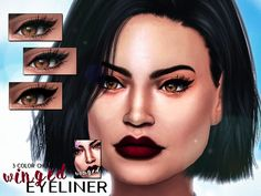 The Sims Resource: Winged Eyeliner by SenpaiSimmer • Sims 4 Downloads
