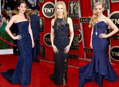 These A-listers look stunning in these royal blue gowns at the SAG Awards