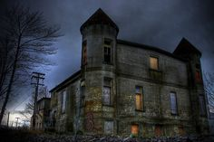 Cinderella's Nightmare by Kevin  Kroeker,The Old General Hospital…  It was built in 1897 and was home to Newfoundlands first operating room. The hospital has been closed and condemed for many many years now. Rumor has it that many dark and hideous things were done behind its doors, things that are better left forgotten…