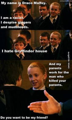 We all loved to watch the Harry Potter movie series. Draco Malfoy was one interesting character we all laughed. So we collected Top 20 Harry Potter & Draco Malfoy Funny Memes. Harry Potter Humor, Harry Potter World, Magia Harry Potter, Fans D'harry Potter, Mundo Harry Potter, Harry Potter Characters, Potter Facts, Harry Potter Funny Quotes, Harry Potter Draco Malfoy