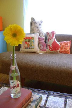 granny chic-love the animal pillows!#Repin By:Pinterest++ for iPad#