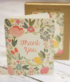 Floral Thank You Notecards