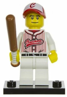 """Baseball Hero: Lego Mini-figures Series #3 [#16] by LEGO. $11.99. What makes Lego fun? The joy of how easy it is to create. Now, Lego is going to bring its fans even more funs. Introducing the Lego mini-figure series!. A mini lego stand is also included with each figure.. Collect all 16!. Each Lego mini-figure is about 1.75"""", and comes with accessories that you can take off to mix and match with other mini-figures' accessories you collect.. This series is made up of ..."""