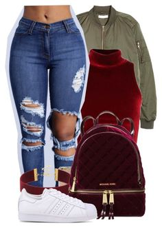 """"""" Why can't I keep my fingers off it? Baby I want you """" by mindlesspolyvore ❤ liked on Polyvore featuring Sonix, Michael Kors and adidas Originals"""