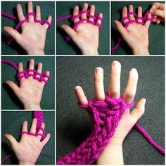 How to Do Finger Knitting | iCreativeIdeas.com Like Us on Facebook ==> https://www.facebook.com/icreativeideas