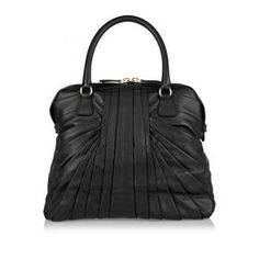 50% off Valentino - Tote Pleated Leather Black - $1292.50 #valentino #tote #pleats #leather