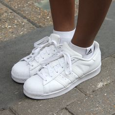 London Show Us Your Sneaks - the adidas all white Superstar Trainer