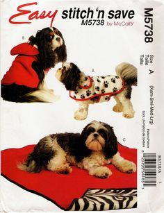 McCall's 5738 Dog Pet Gift Items