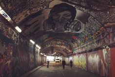 Leake Street and its ever evolving tunnel of street art.