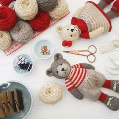 Mary Jane's TEAROOM: Xmas Bear Making Kit Giveaway...
