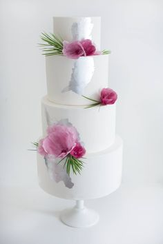 Plums and Silver Wedding Cake by Sweet Bakes