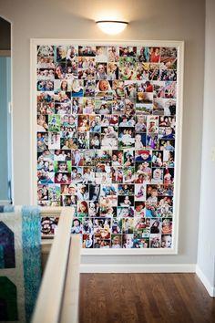 foto collage ideen für bilderwand