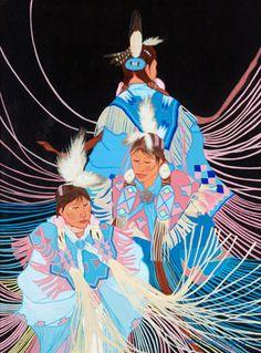 "**Ruthe Blalock Jones** - ""Shawl Dancers,"" 2004"