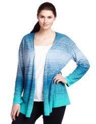 Pendleton Womens Plus Size Flyaway Stripe Cardigan