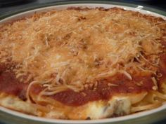 Love At First Bite: Baked Spaghetti Pie
