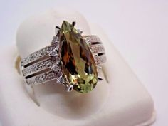 3-93-Ct-Zultanite-amp-14-Ct-Diamond-Ring-14k-Solid-Gold-Cert-Of-Auth-BR003095