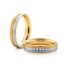 SAVICKI - Obrączki ślubne: Obrączki z dwukolorowego złota (Nr 265) - Biżuteria od 1976 r. Wedding Rings, Engagement Rings, Jewelry, Enagement Rings, Jewlery, Jewerly, Schmuck, Jewels, Jewelery