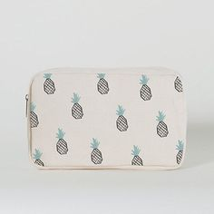 IMM Living Cute Sweet Treats Pineapple Pencil Case Cotton/Polyester Canvas
