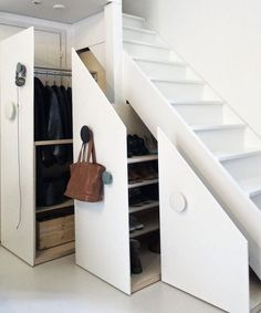 Slide-out doors can also reveal hidden closet space if you include racks for…