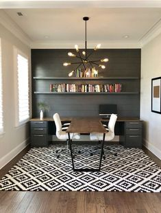 Find the best idea to create a home office for two.- Find the best idea to create a home office for two. Sharing a home office sounds like … – Guest Room Office, Home Office Space, Home Office Design, Home Office Decor, Office Designs, Modern Office Decor, At Home Office Ideas, Home Office Lighting, Diy Office Desk