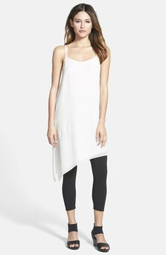 Eileen Fisher Asymmetrical V-Neck Silk Tunic available at #Nordstrom 2015