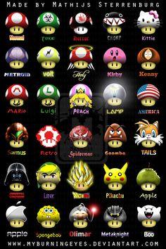 Awesome Mario Mushrooms 5