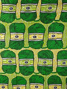 African Fabric Print Super Wax 6 Yards 100% Cotton sw091580