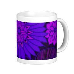 Deep Purple Art Deco Design Coffee Mug #zazzle