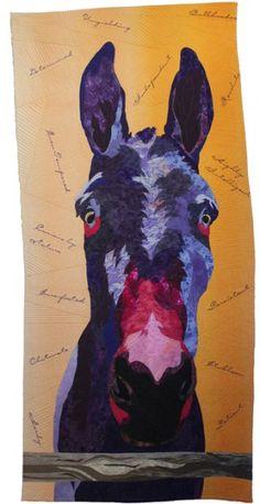 "Molly: Alter Ego, 30 x 64"", by Barbara Yates Beasley   Fiber Artist   Art quilts"