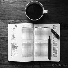 "1,328 Likes, 19 Comments - Look Bullet (@lookbullet) on Instagram: ""November's habit tracker is finished! Just in time! Happy November! #November #trackerlog…"""