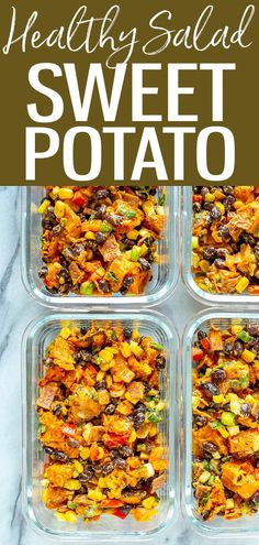 This Healthy Sweet Potato Salad is the perfect dish to make ahead and bring to a potluck or picnic - this filling summer salad even has bacon! #sweetpotatosalad #healthysalad Healthy Salad Recipes, Whole Food Recipes, Healthy Meals, Potato Salad Dressing, Clean Eating Recipes, Eating Healthy, Salad With Sweet Potato, Meal Prep Bowls, Picnic Foods