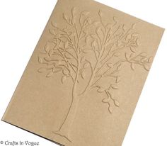 Embossed Fall Tree Cards, 8 Blank NoteCards, Embossed Kraft Cards, Embossed Tree, Nature Cards, Rustic Wedding, Handmade Fall Stationery on Etsy, $8.64 AUD