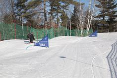 Watch some awesome athletes on our Boarder/Skiercross course!
