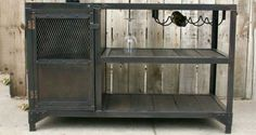 Cool bar piece from upcycled metal sourced from scrapyards. Revampt, reclaimed, recycled, repurposed