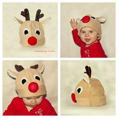 Reindeer hat for baby boys girls Christmas by handmadebyzuzana, $15.00